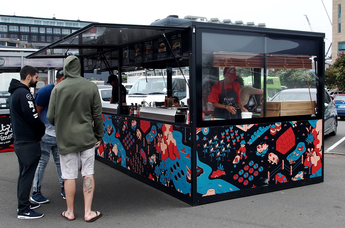 Food For The People – Food Truck Illustration 03